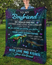 """I Wish I Could Turn Back The Clock To Boyfriend Fleece Blanket - 50"""" x 60"""" aos-coral-fleece-blanket-50x60-lifestyle-front-02b"""
