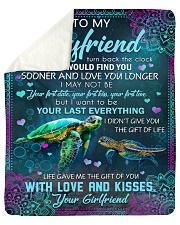 "I Wish I Could Turn Back The Clock To Boyfriend Sherpa Fleece Blanket - 50"" x 60"" thumbnail"