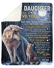 """Never Forget That I Love U Wolf Mom To Daughter Sherpa Fleece Blanket - 50"""" x 60"""" thumbnail"""