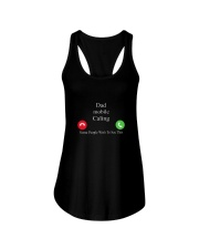 dad mobile calling Ladies Flowy Tank thumbnail