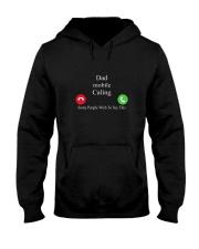 dad mobile calling Hooded Sweatshirt thumbnail