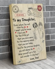 Even When I'm Not Close By Dad To Daughter 16x24 Gallery Wrapped Canvas Prints aos-canvas-pgw-16x24-lifestyle-front-06