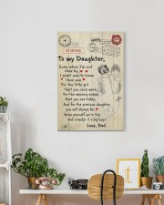 Even When I'm Not Close By Dad To Daughter 16x24 Gallery Wrapped Canvas Prints aos-canvas-pgw-16x24-lifestyle-front-18