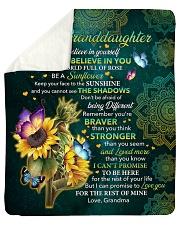 "I Hope U Believe In Yourself Sunflower GM To GD Sherpa Fleece Blanket - 50"" x 60"" thumbnail"