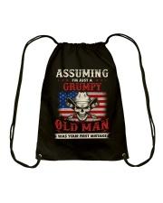 Assuming I'm Just A Grumpy Old Man Drawstring Bag thumbnail