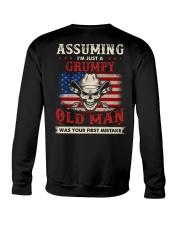 Assuming I'm Just A Grumpy Old Man Crewneck Sweatshirt thumbnail