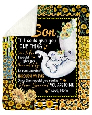 Elephant-If I could give U 1 thing-Mom-To-Son Sherpa Fleece Blanket tile