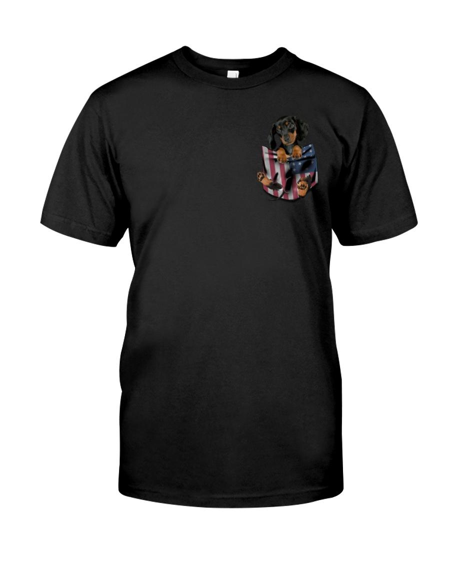 Dachshund Flag Pocket Classic T-Shirt
