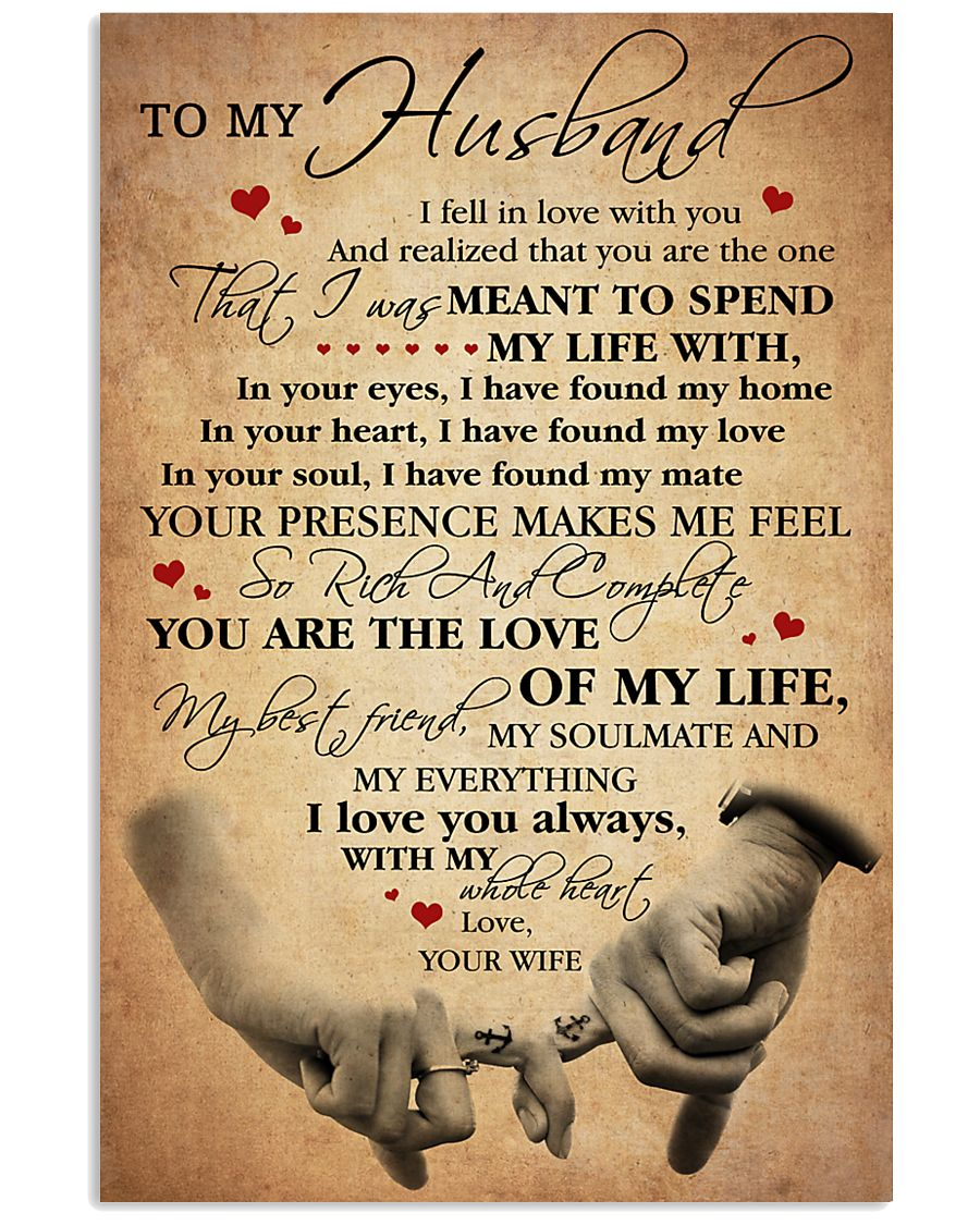 To my Husband - I Love You always 11x17 Poster