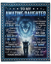 "Lion- Never 4get that I Love U - Dad-To-Daughter Fleece Blanket - 50"" x 60"" front"
