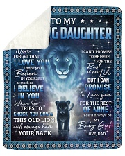 "Lion- Never 4get that I Love U - Dad-To-Daughter Sherpa Fleece Blanket - 50"" x 60"" thumbnail"