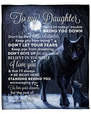 """Lion - Dont Let Your Fears - Dad-To-Daughter Fleece Blanket - 50"""" x 60"""" front"""