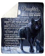 Lion - Dont Let Your Fears - Dad-To-Daughter Sherpa Fleece Blanket tile