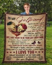 """Words Are Not Enough To Express To Girlfriend Fleece Blanket - 50"""" x 60"""" aos-coral-fleece-blanket-50x60-lifestyle-front-01a"""