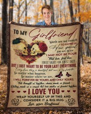 """Words Are Not Enough To Express To Girlfriend Fleece Blanket - 50"""" x 60"""" aos-coral-fleece-blanket-50x60-lifestyle-front-01b"""