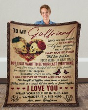 """Words Are Not Enough To Express To Girlfriend Fleece Blanket - 50"""" x 60"""" aos-coral-fleece-blanket-50x60-lifestyle-front-01c"""