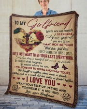 """Words Are Not Enough To Express To Girlfriend Fleece Blanket - 50"""" x 60"""" aos-coral-fleece-blanket-50x60-lifestyle-front-02"""