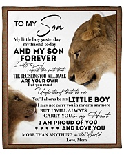 """Little Boy Yesterday Friend Today-Lion Mom To Son Fleece Blanket - 50"""" x 60"""" front"""