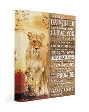 Lion- Never Forget That I Love You Mom-To-Daughter 11x14 Gallery Wrapped Canvas Prints front