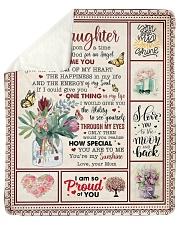 Once Upon A Time I Asked God Mom To Daughter Sherpa Fleece Blanket tile