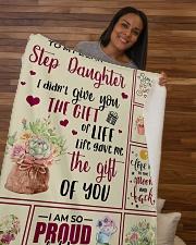 """My Dear Step Daughter Sherpa Fleece Blanket - 50"""" x 60"""" aos-sherpa-fleece-blanket-50x60-lifestyle-front-09b"""