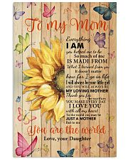 Mom Half Sunflower To Me You Are The World I LoveU 11x17 Poster front