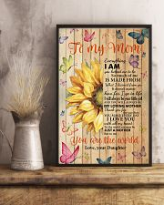 Mom Half Sunflower To Me You Are The World I LoveU 11x17 Poster lifestyle-poster-3
