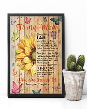 Mom Half Sunflower To Me You Are The World I LoveU 11x17 Poster lifestyle-poster-8