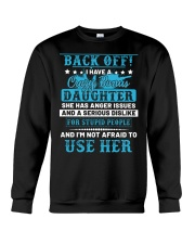 Back Off I Have A Crazy Bonus Daughter Crewneck Sweatshirt thumbnail