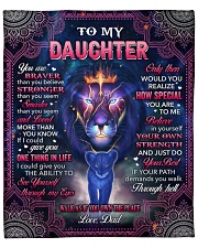 "U Are Braver Than U Believe Lion Dad To Daughter Fleece Blanket - 50"" x 60"" front"
