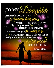 """Daughter Never Forget That Mommy Loves You Fleece Blanket - 50"""" x 60"""" front"""