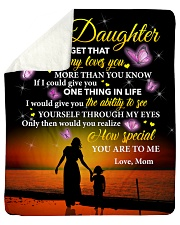 Daughter Never Forget That Mommy Loves You Sherpa Fleece Blanket tile