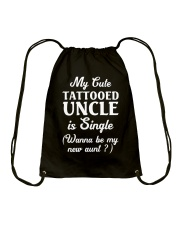 My Cute Tattooed Uncle Is Single Drawstring Bag thumbnail