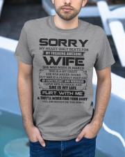 My Heart Only Beats For Wife Was Born In March Classic T-Shirt apparel-classic-tshirt-lifestyle-front-45