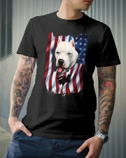 American Flag dogo argentino Classic T-Shirt lifestyle-mens-crewneck-front-6