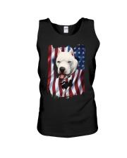 American Flag dogo argentino Unisex Tank thumbnail