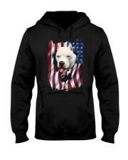 American Flag dogo argentino Hooded Sweatshirt thumbnail