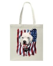 American Flag dogo argentino Tote Bag thumbnail