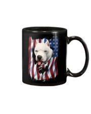 American Flag dogo argentino Mug thumbnail