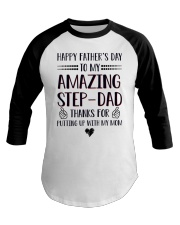 Happy Fathers Day To Amazing StepDad Baseball Tee thumbnail