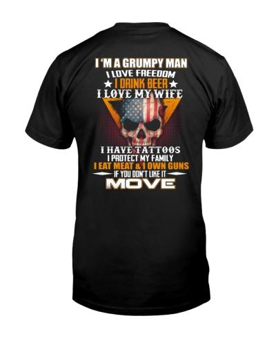 I'm a grumpy man I protect my family