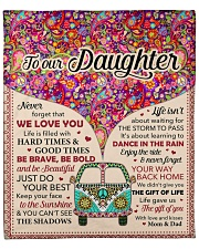 """Never Forget That I Love You - Mom Dad To Daughter Fleece Blanket - 50"""" x 60"""" front"""