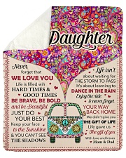 """Never Forget That I Love You - Mom Dad To Daughter Sherpa Fleece Blanket - 50"""" x 60"""" thumbnail"""