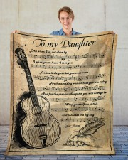 """Even When I'm Not Close By Mom To Daughter Fleece Blanket - 50"""" x 60"""" aos-coral-fleece-blanket-50x60-lifestyle-front-01"""