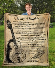 """Even When I'm Not Close By Mom To Daughter Fleece Blanket - 50"""" x 60"""" aos-coral-fleece-blanket-50x60-lifestyle-front-01a"""