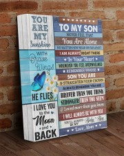 Never Feel That You Are Alone Mom To Son 11x14 Gallery Wrapped Canvas Prints aos-canvas-pgw-11x14-lifestyle-front-09
