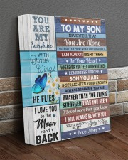 Never Feel That You Are Alone Mom To Son 11x14 Gallery Wrapped Canvas Prints aos-canvas-pgw-11x14-lifestyle-front-10