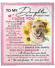 """Never Forget That I Love U Dog Mom To Daughter 2 Fleece Blanket - 50"""" x 60"""" front"""