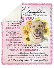 Never Forget That I Love U Dog Mom To Daughter 2 Sherpa Fleece Blanket tile