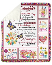 Never Feel That You Are Alone Dad To Daughter Sherpa Fleece Blanket tile